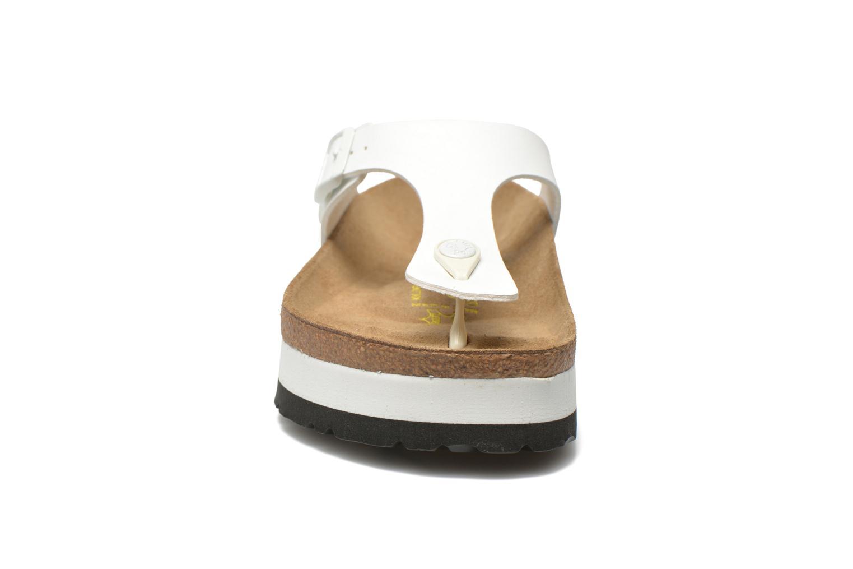 Tongs Papillio Gizeh Flor Platform Blanc vue portées chaussures