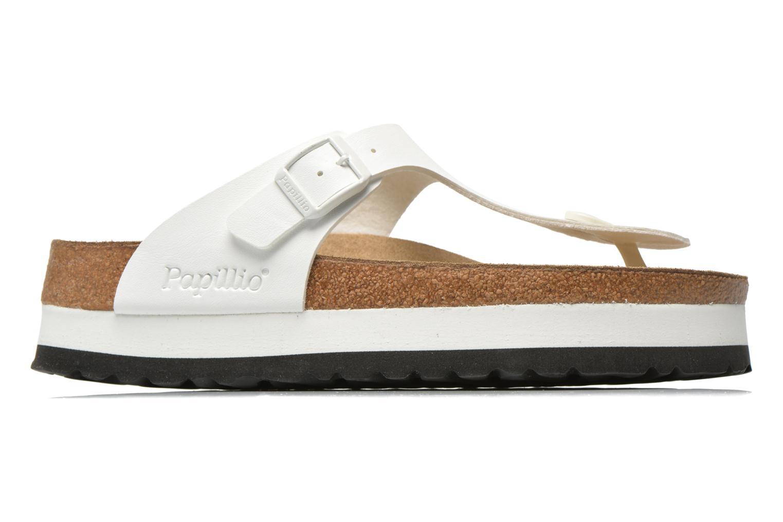 Slippers Papillio Gizeh Flor Platform Wit achterkant