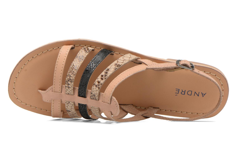 Sandales et nu-pieds André Bonus Multicolore vue gauche