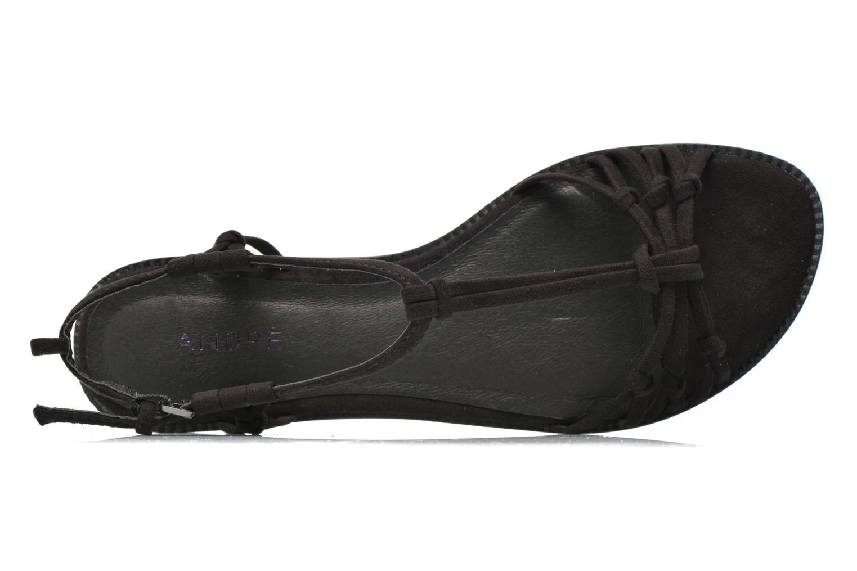 Sandales et nu-pieds André Bow Noir vue gauche