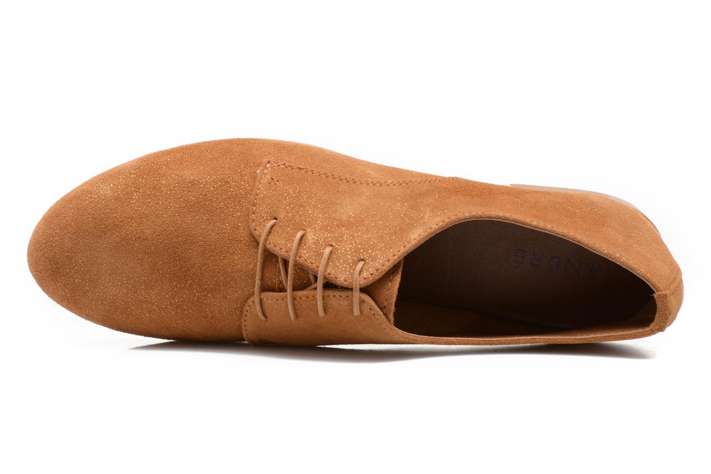 Chaussures à lacets André Fabuleux P Marron vue gauche