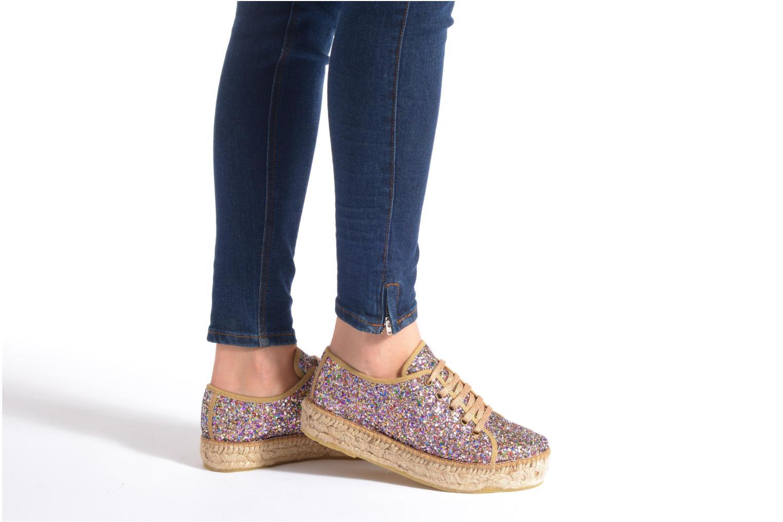 Chaussures à lacets André Friandise Multicolore vue bas / vue portée sac