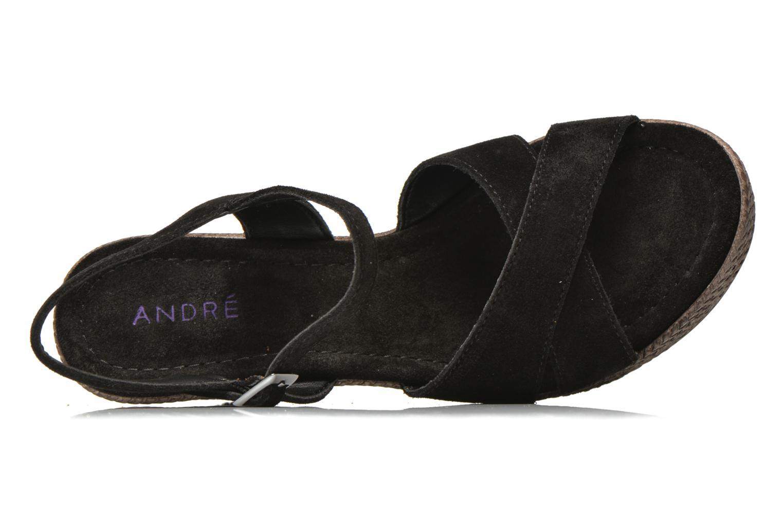 Sandales et nu-pieds André Friponne Noir vue gauche