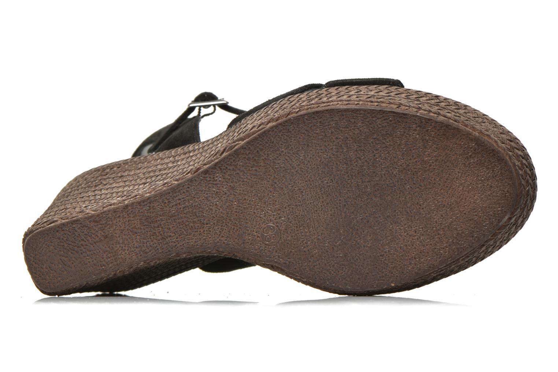Sandales et nu-pieds André Friponne Noir vue haut