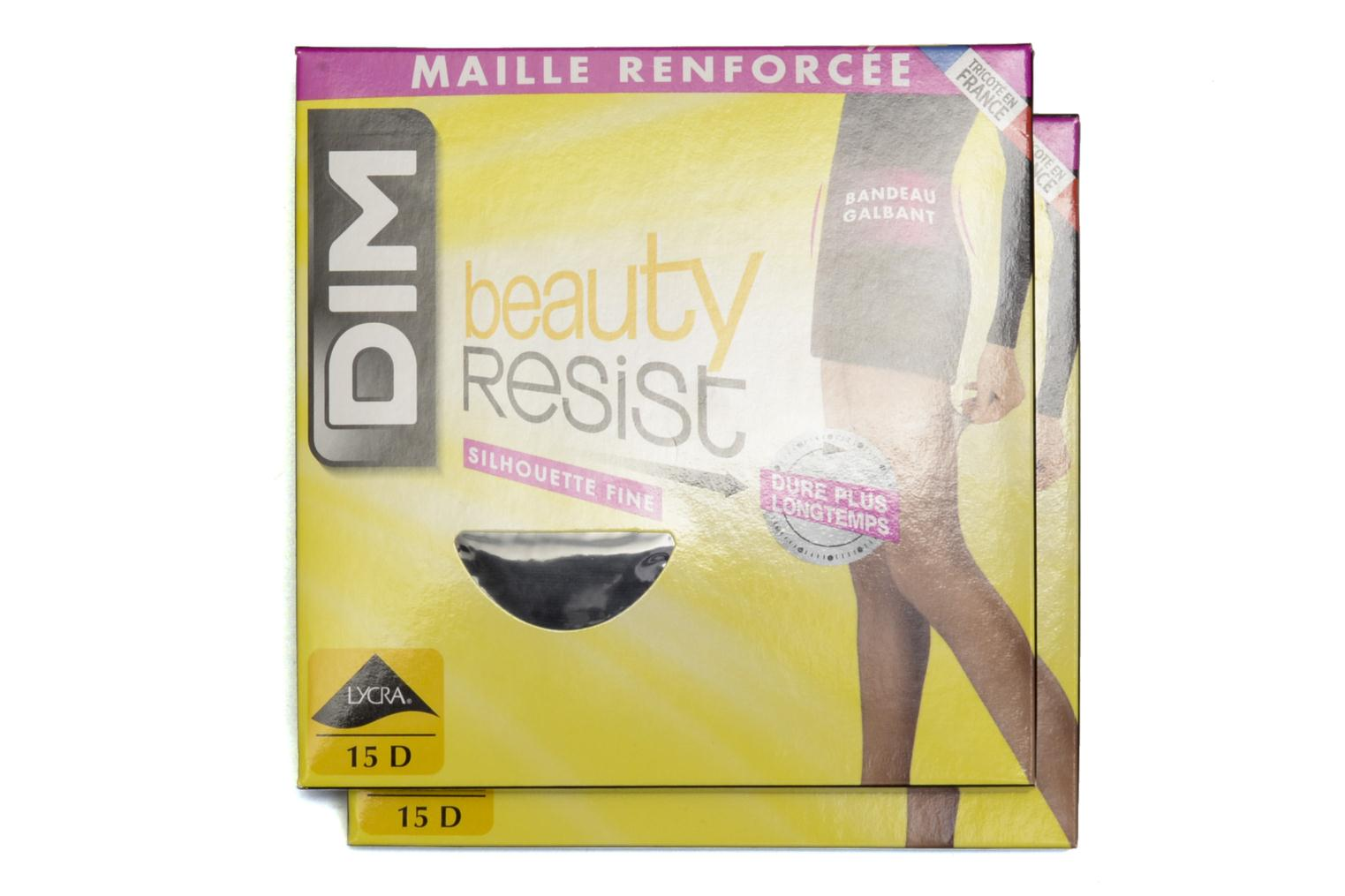 Tights BEAUTY RESIST SILHOUETTE FINE Pack of 2  Noir
