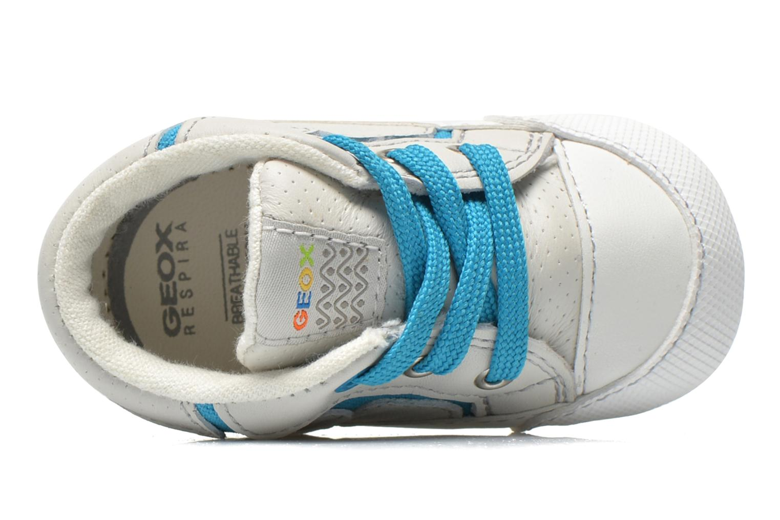 Trainers Geox B Ian B4252A White view from the left