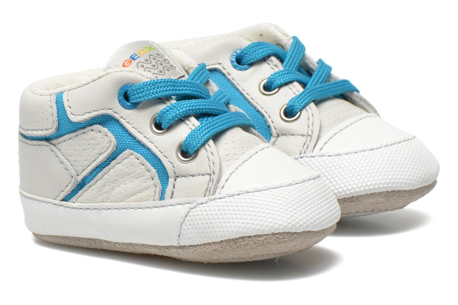 Trainers Geox B Ian B4252A White detailed view/ Pair view