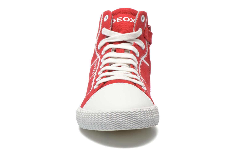 Sneakers Geox J Smart Boy J52A8D Rosso modello indossato