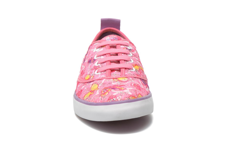 Sneaker Geox JR Ciak Girl J5204E rosa schuhe getragen