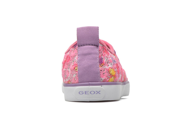 Sneaker Geox JR Ciak Girl J5204E rosa ansicht von rechts