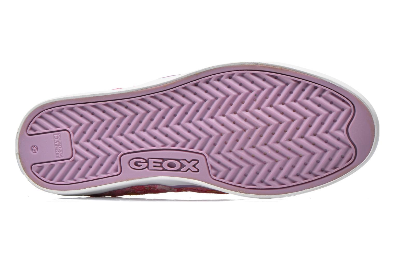Sneaker Geox JR Ciak Girl J5204E rosa ansicht von oben