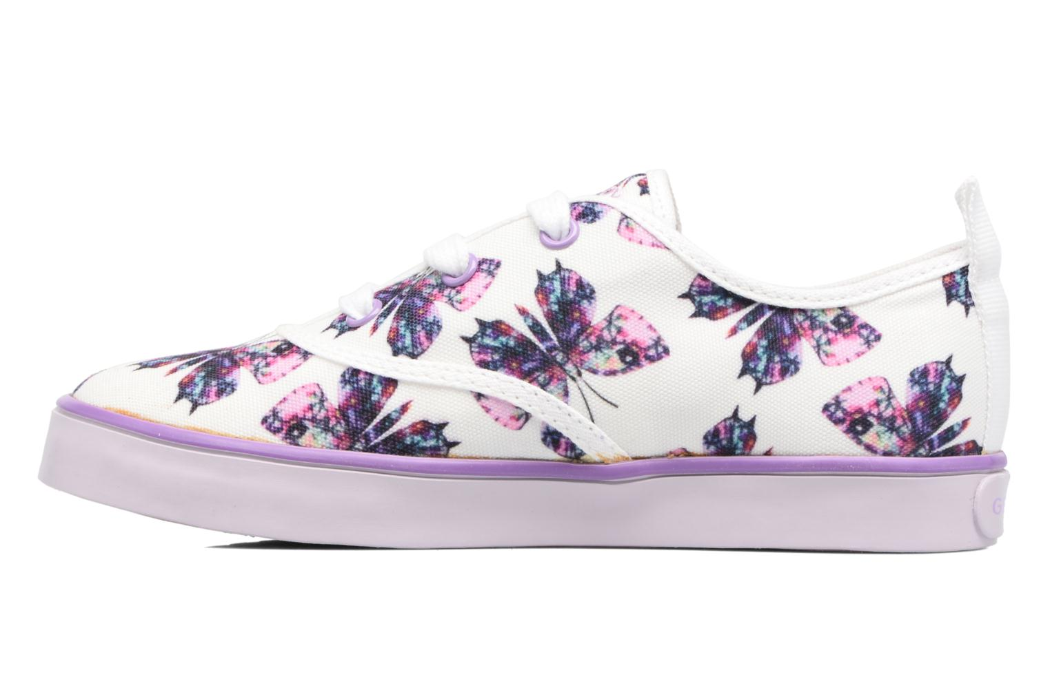 Trainers Geox JR Ciak Girl J5204E White front view