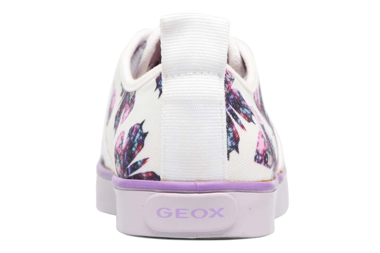 White/lilac Geox JR Ciak Girl J5204E (Blanc)