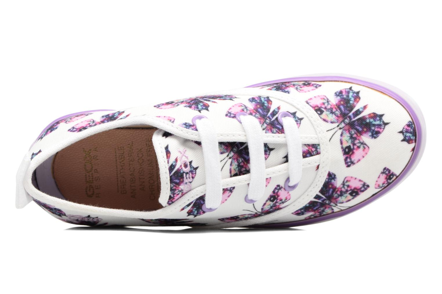 Trainers Geox JR Ciak Girl J5204E White view from the left