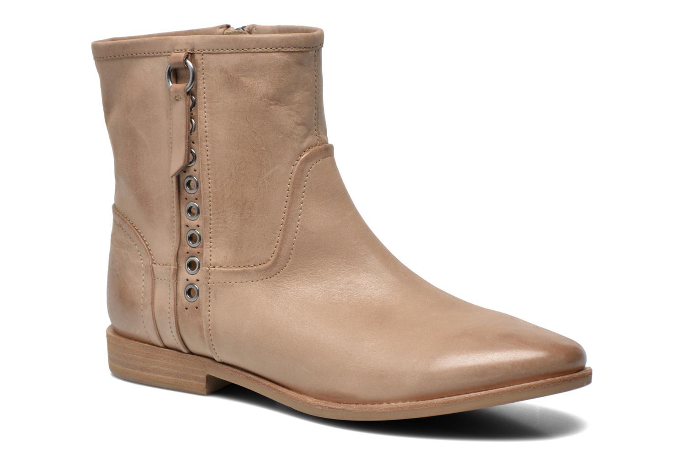 Bottines et boots Geox D Elixir D52C7A Beige vue détail/paire