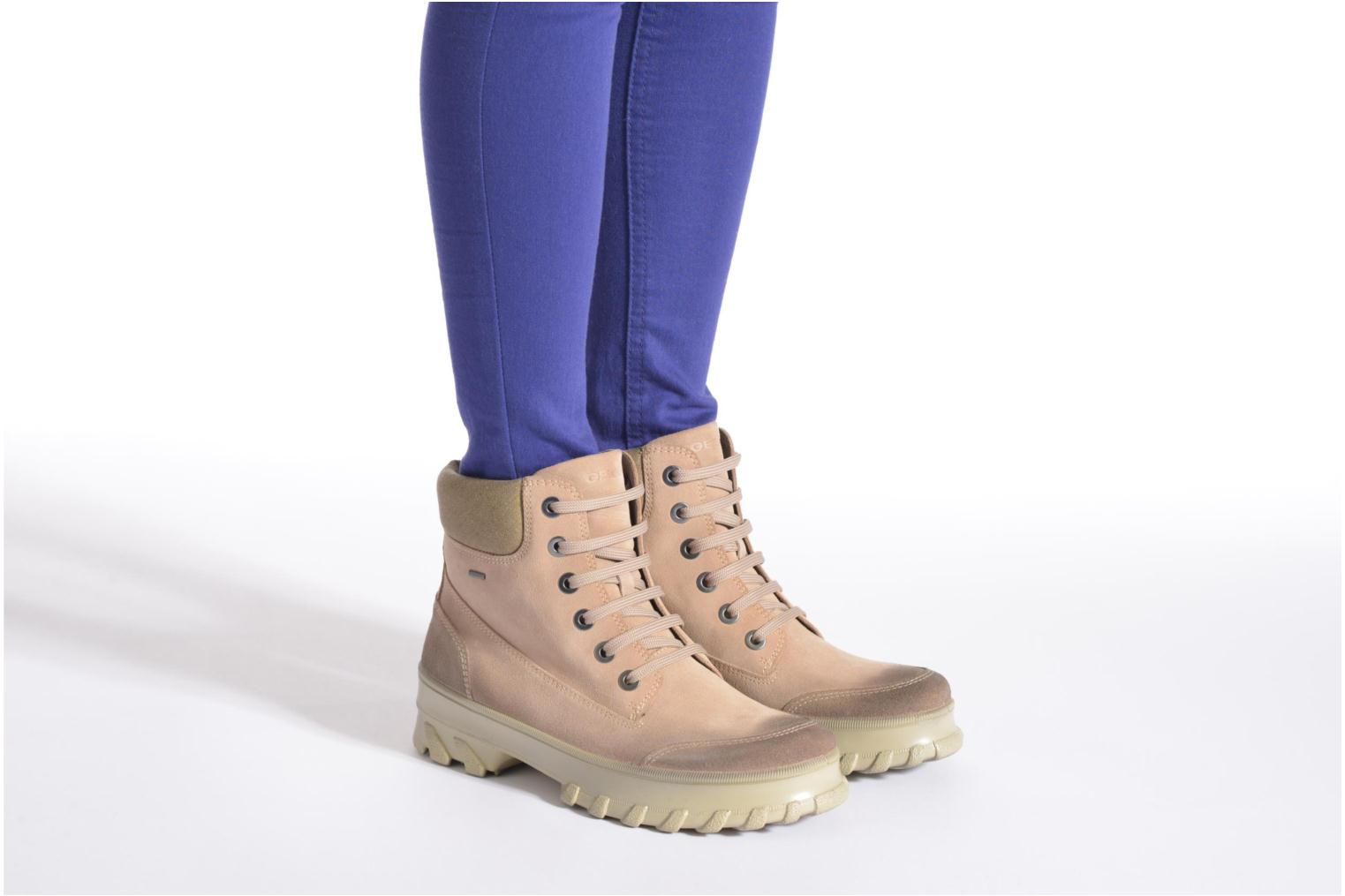 Ankle boots Geox D Yeti B ABX D44U1B Beige view from underneath / model view