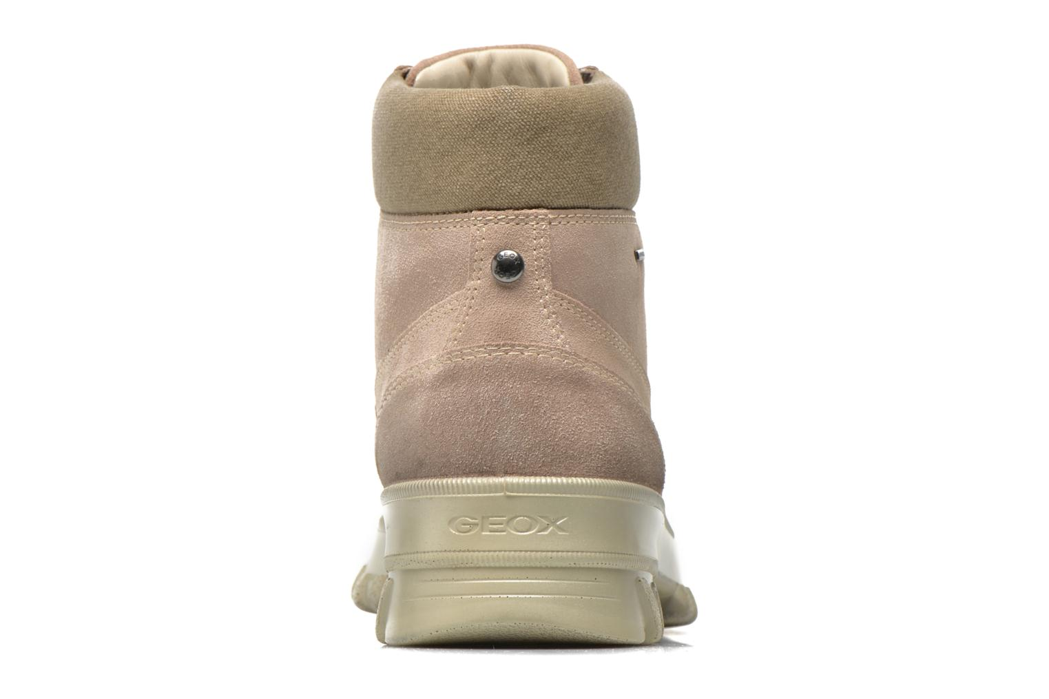 Ankle boots Geox D Yeti B ABX D44U1B Beige view from the right