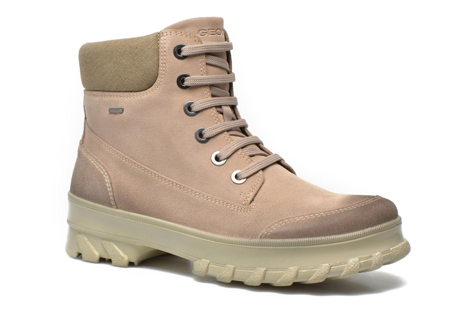 Ankle boots Geox D Yeti B ABX D44U1B Beige detailed view/ Pair view