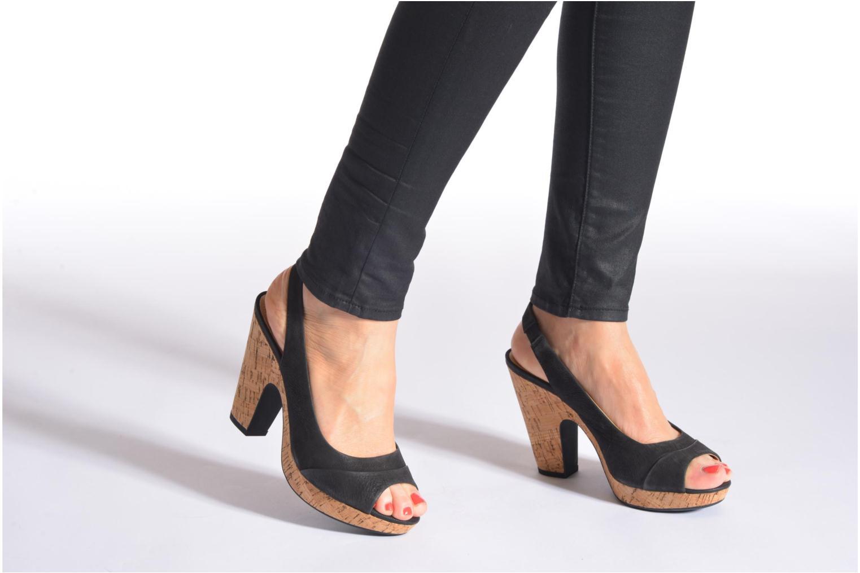 Sandales et nu-pieds Geox D Nurit D5271B Noir vue bas / vue portée sac