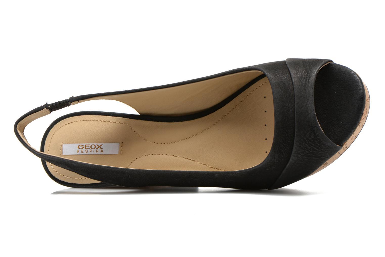 Sandales et nu-pieds Geox D Nurit D5271B Noir vue gauche