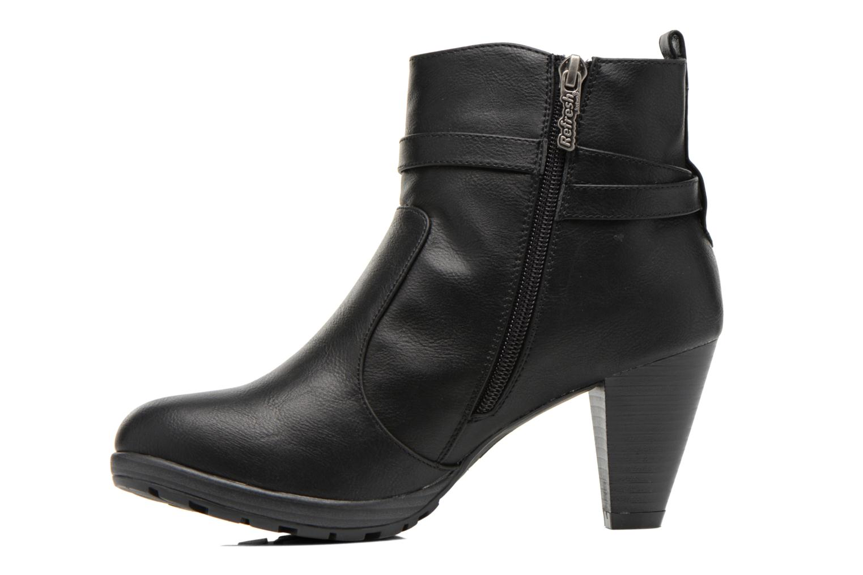 Bottines et boots Refresh Lisa-61174 Noir vue face