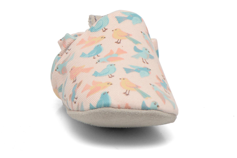 Chaussons Poco Nido PASTEL BIRDS Rose vue portées chaussures