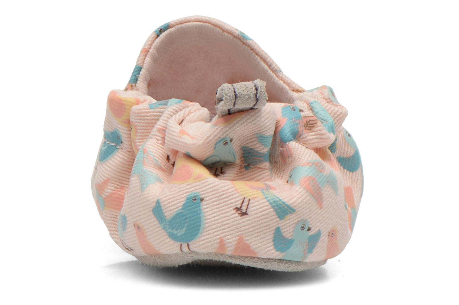 Slippers Poco Nido PASTEL BIRDS Pink view from the right