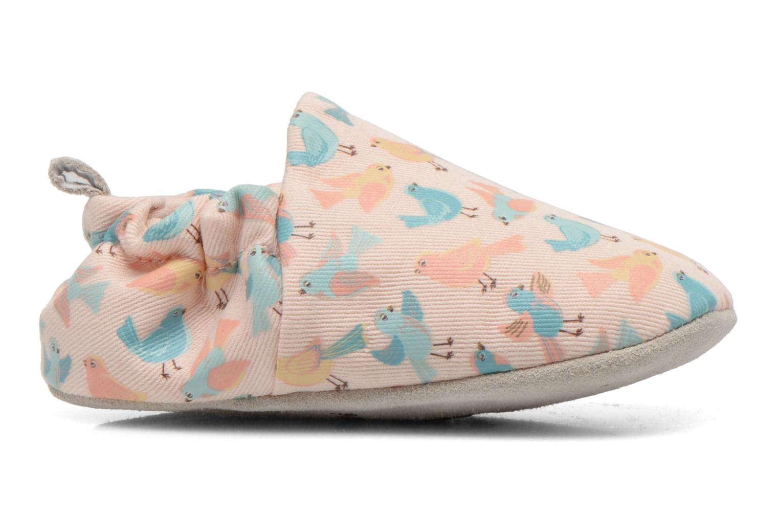 Slippers Poco Nido PASTEL BIRDS Pink back view