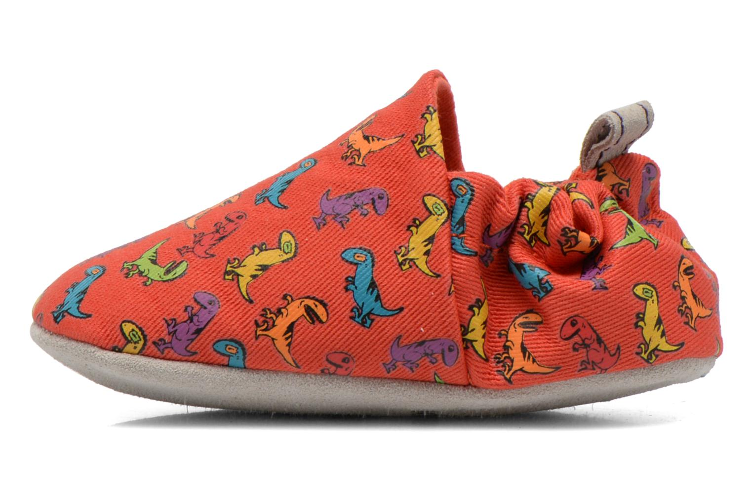 Chaussons Poco Nido DINOSAUR Rouge vue face