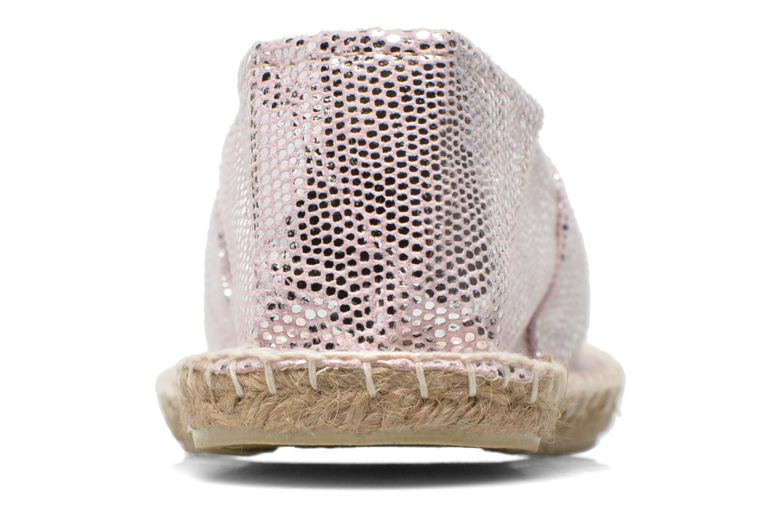 Espadrilles Arsène Mermaid Silver view from the right
