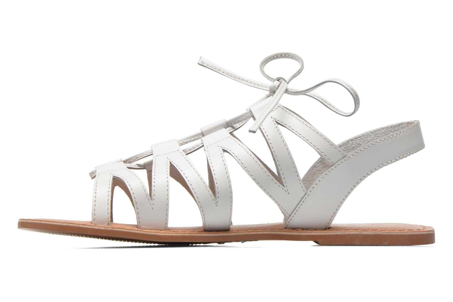 Sandals I Love Shoes SUGLI Leather White front view