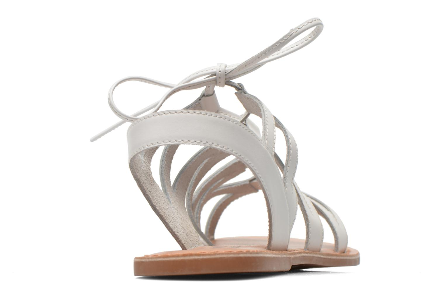 Sandals I Love Shoes SUGLI Leather White view from the right