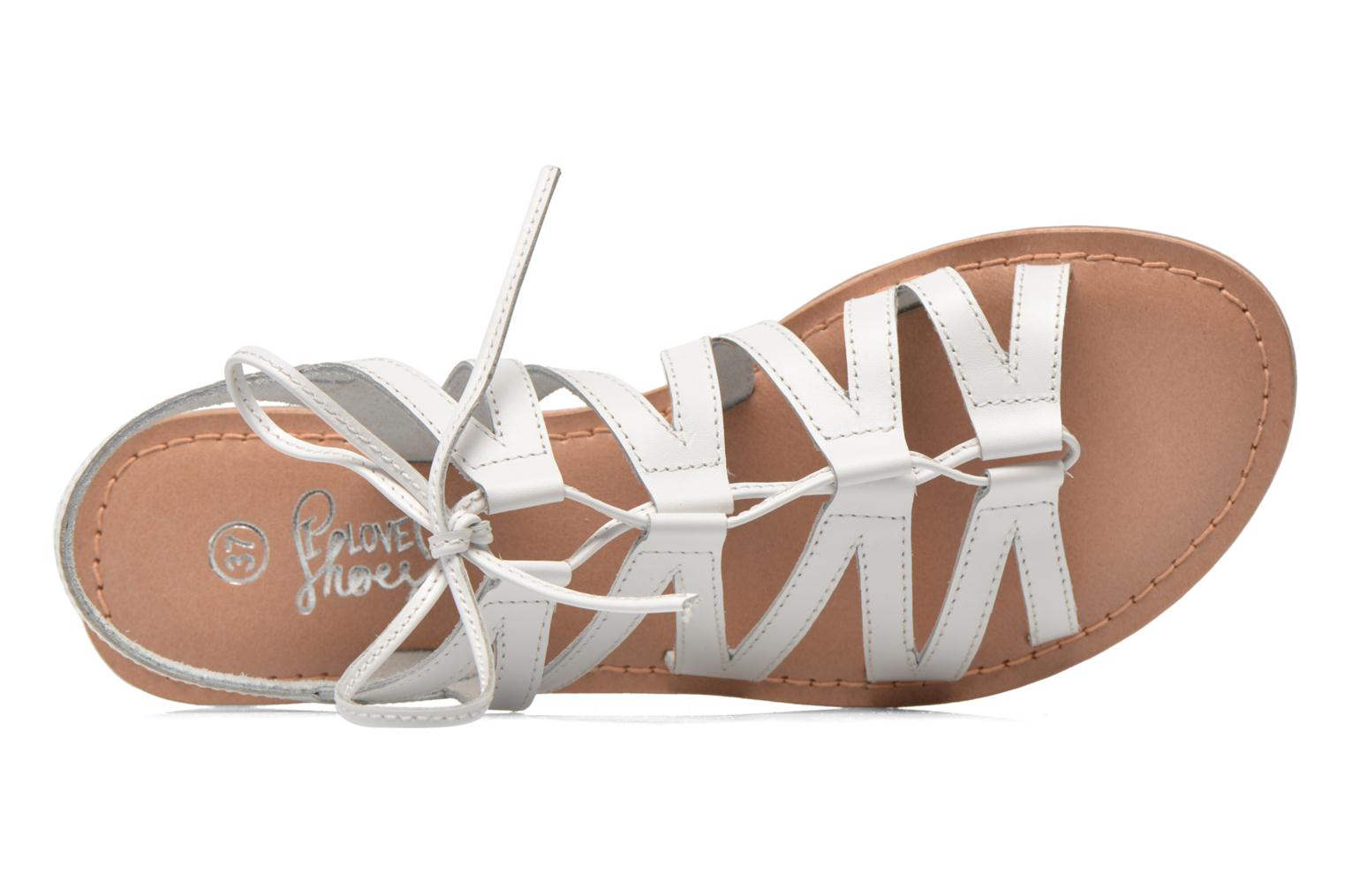 Sandals I Love Shoes SUGLI Leather White view from the left