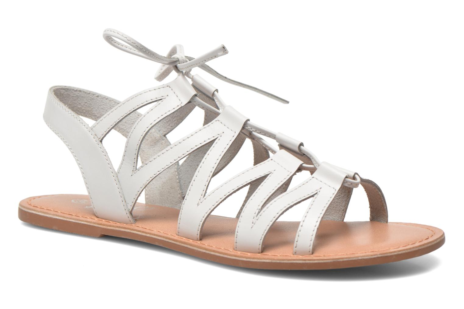 Sandals I Love Shoes SUGLI Leather White detailed view/ Pair view