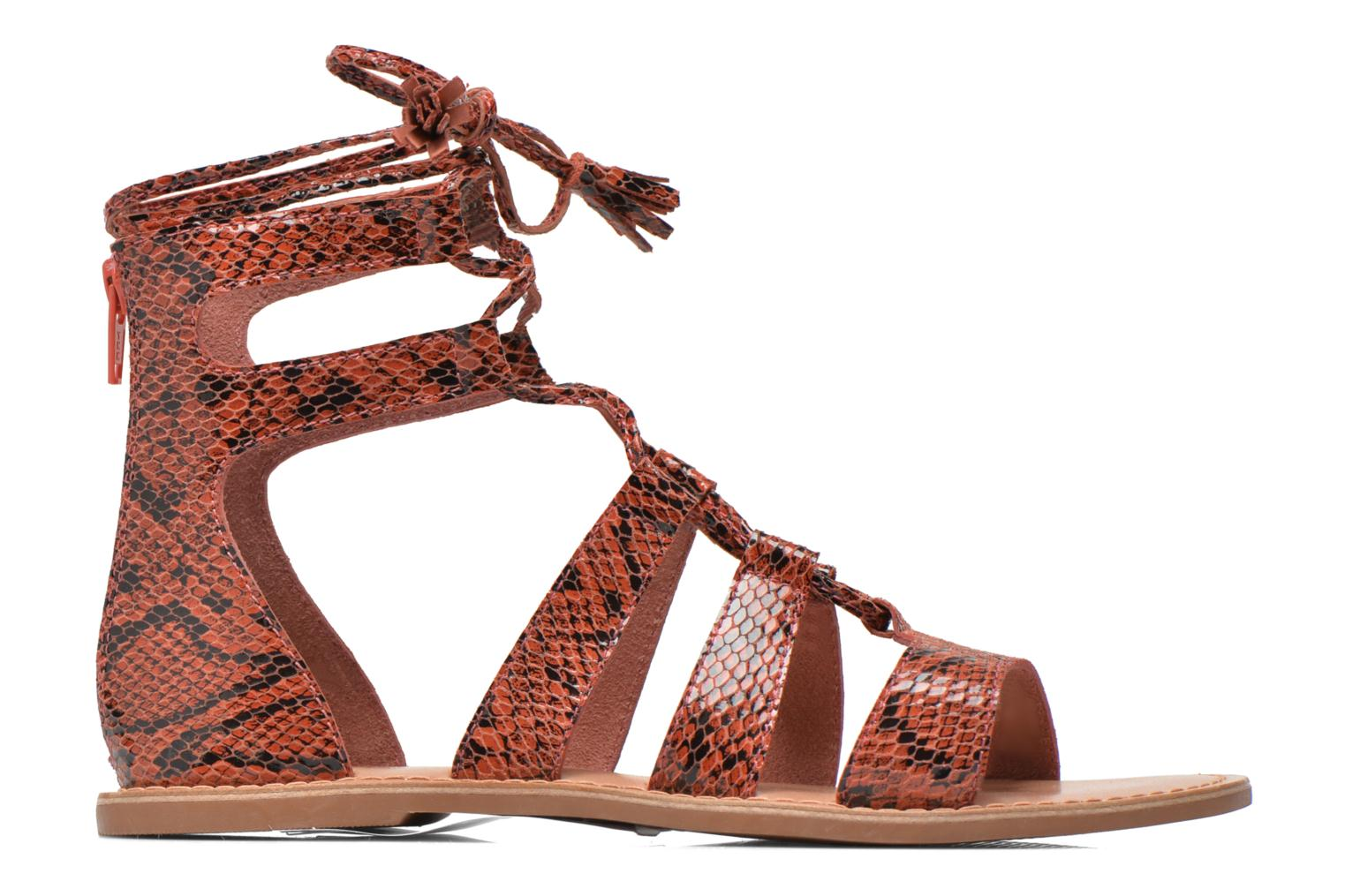 Sandals I Love Shoes SUGLIHIGH CUIR Red back view