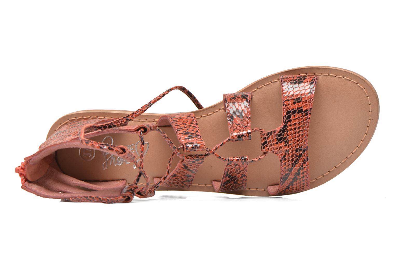 Sandali e scarpe aperte I Love Shoes SUGLIHIGH CUIR Rosso immagine sinistra