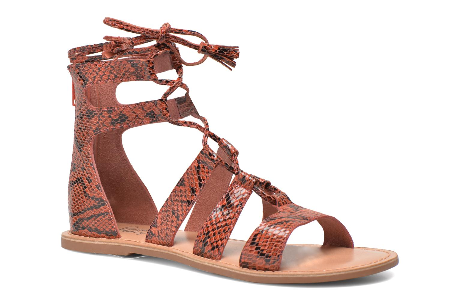 Sandals I Love Shoes SUGLIHIGH CUIR Red detailed view/ Pair view