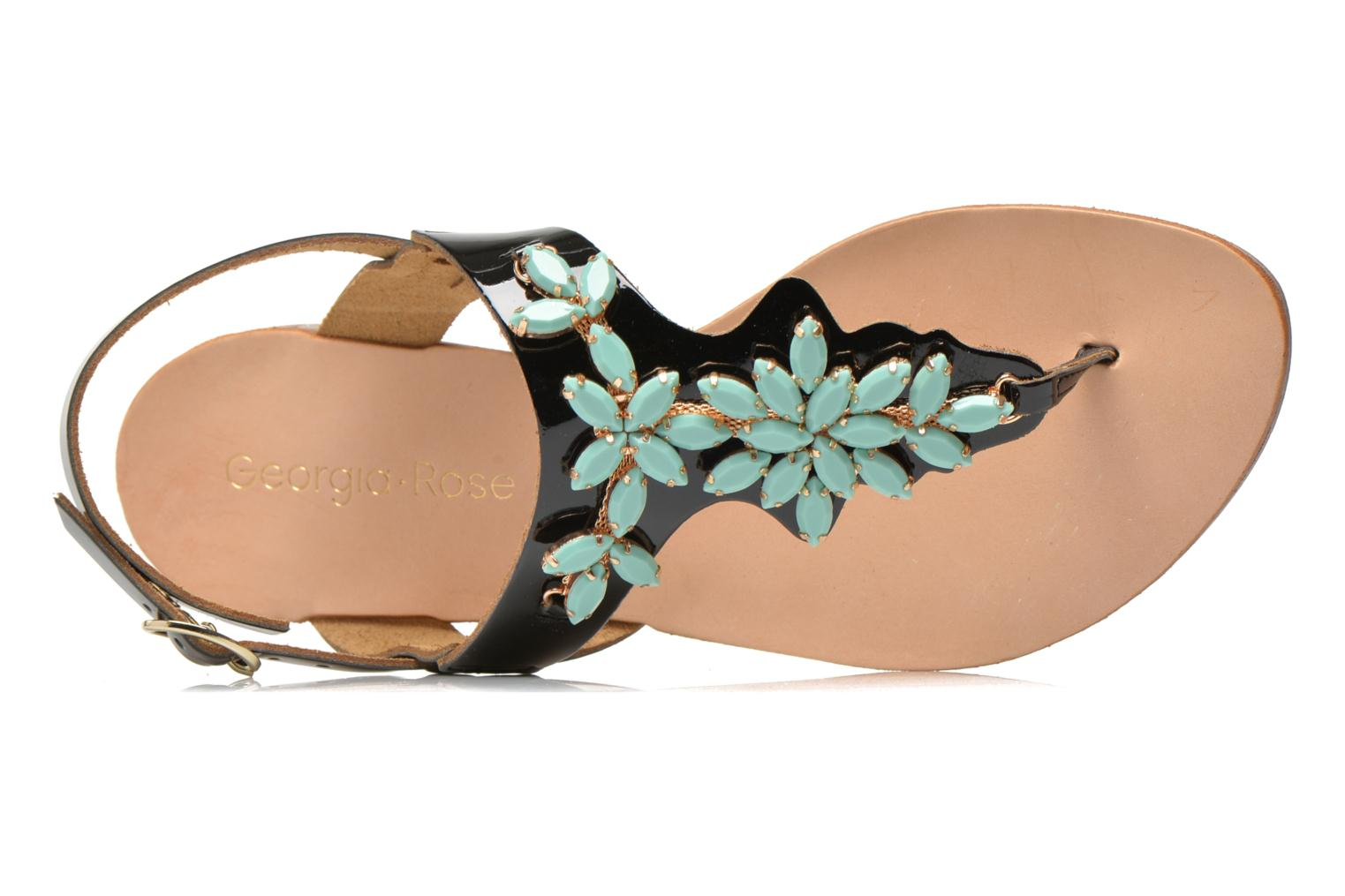 Sandalias Georgia Rose Dollie Negro vista lateral izquierda