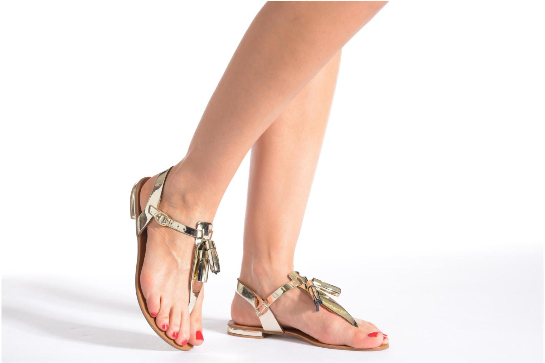Sandales et nu-pieds Georgia Rose Dormine Rouge vue bas / vue portée sac