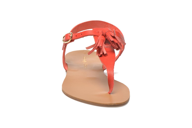 Sandales et nu-pieds Georgia Rose Dormine Rouge vue portées chaussures
