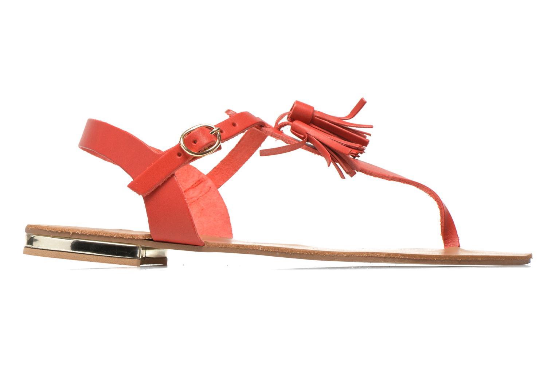 Sandales et nu-pieds Georgia Rose Dormine Rouge vue derrière