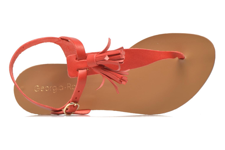 Sandales et nu-pieds Georgia Rose Dormine Rouge vue gauche
