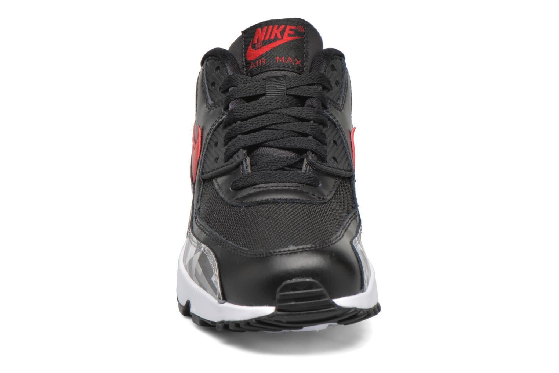 Baskets Nike Nike Air Max 90 Print Mesh Gs Noir vue portées chaussures