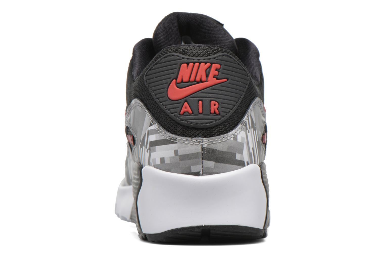 Nike Air Max 90 Print Mesh Gs Black/Gym Red-White