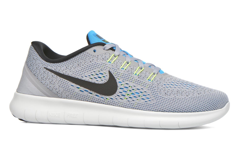 Nike Free Rn Wolf Grey/Black-Blue Glow-Volt