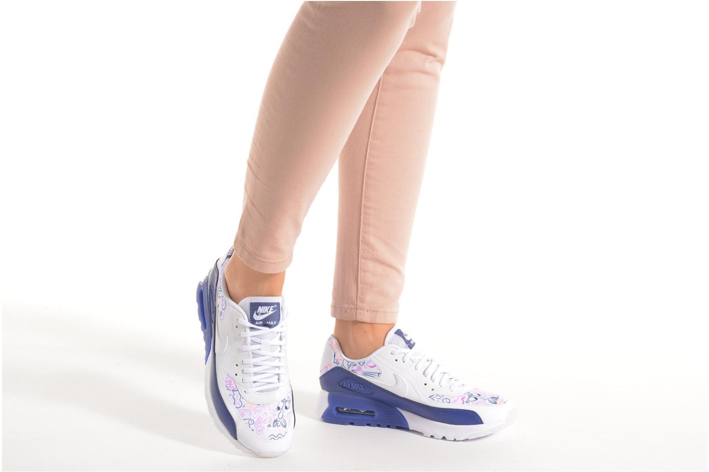 Baskets Nike W Air Max 90 Ultra Print Blanc vue bas / vue portée sac