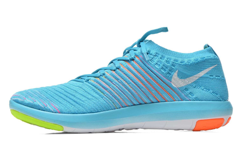 Chaussures de sport Nike Wm Nike Free Transform Flyknit Bleu vue face