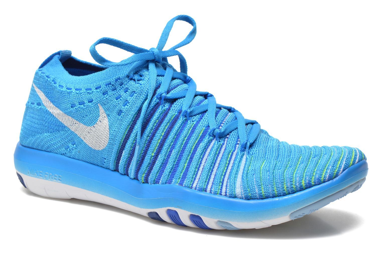 Sportssko Nike Wm Nike Free Transform Flyknit Blå detaljeret billede af skoene