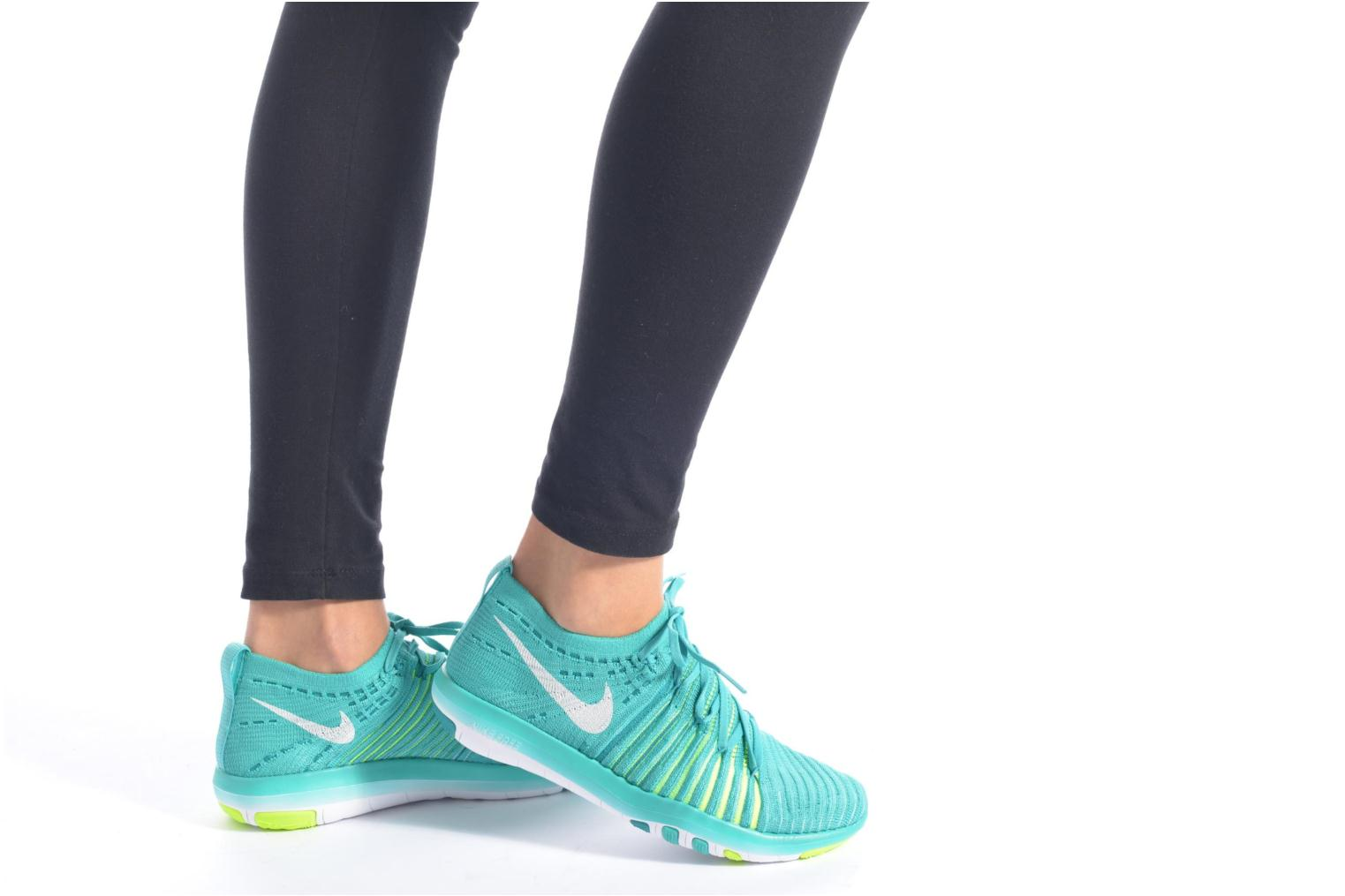 Sport shoes Nike Wm Nike Free Transform Flyknit Green view from underneath / model view