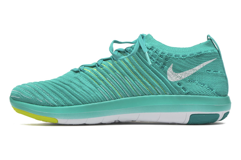 Sportschuhe Nike Wm Nike Free Transform Flyknit grün ansicht von vorne